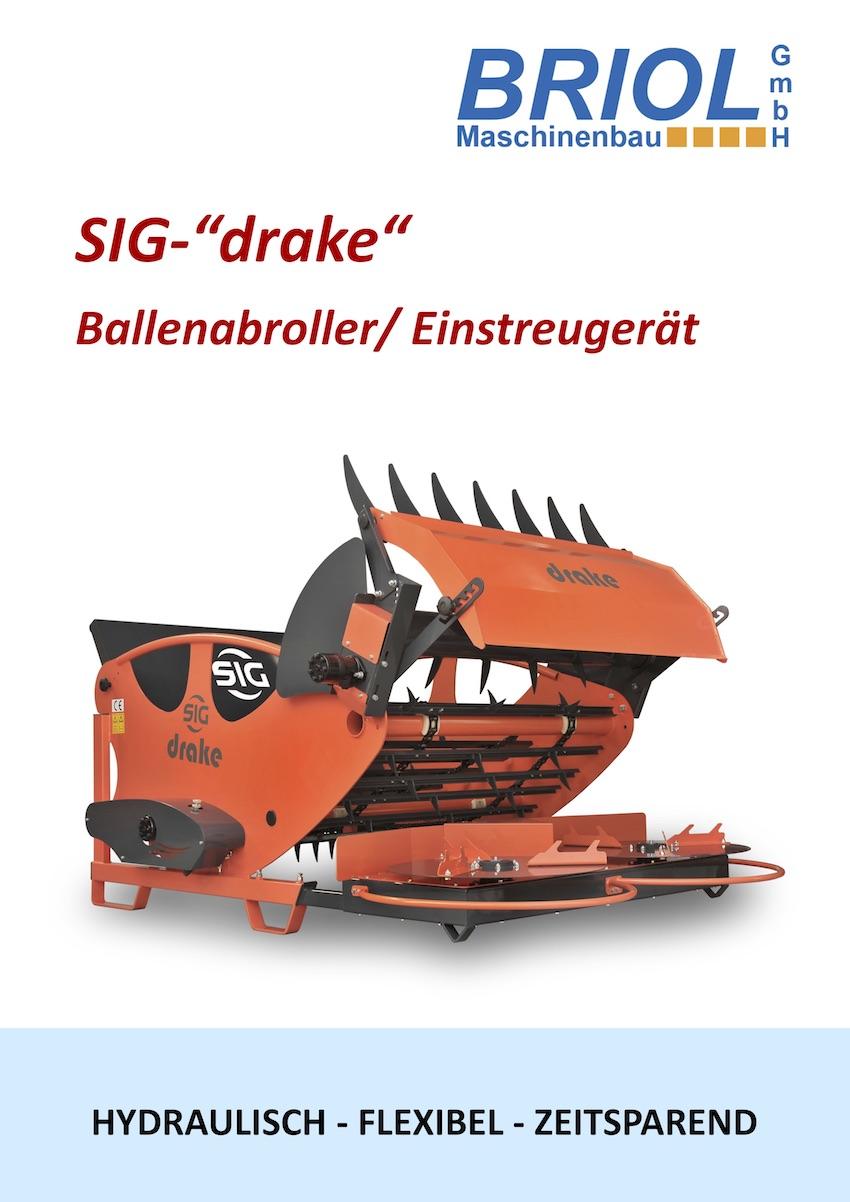 """SIG-""""drake"""" Ballenabroller/ Einstreugerät"""