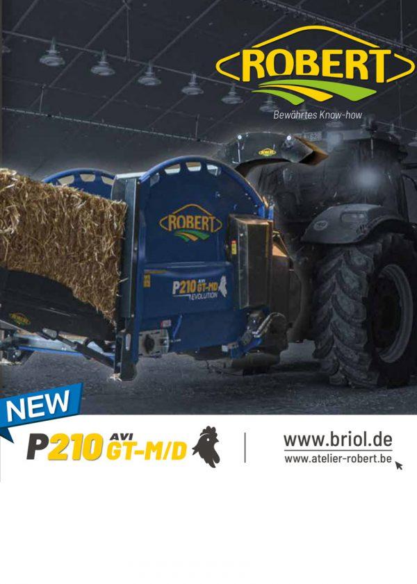 Prospekt ROBERT Einstreugerät P210 GT AVI